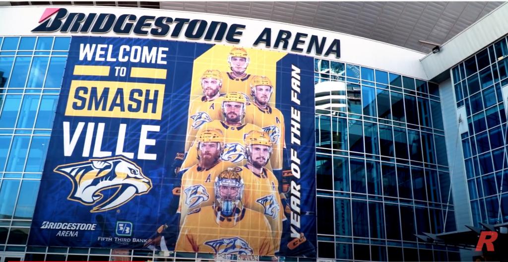 The Outside of Bridgestone Arena