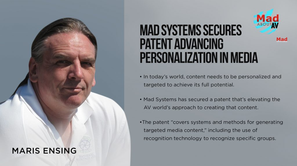 Mad Systems Secures Patent Advancing Personalization in Media