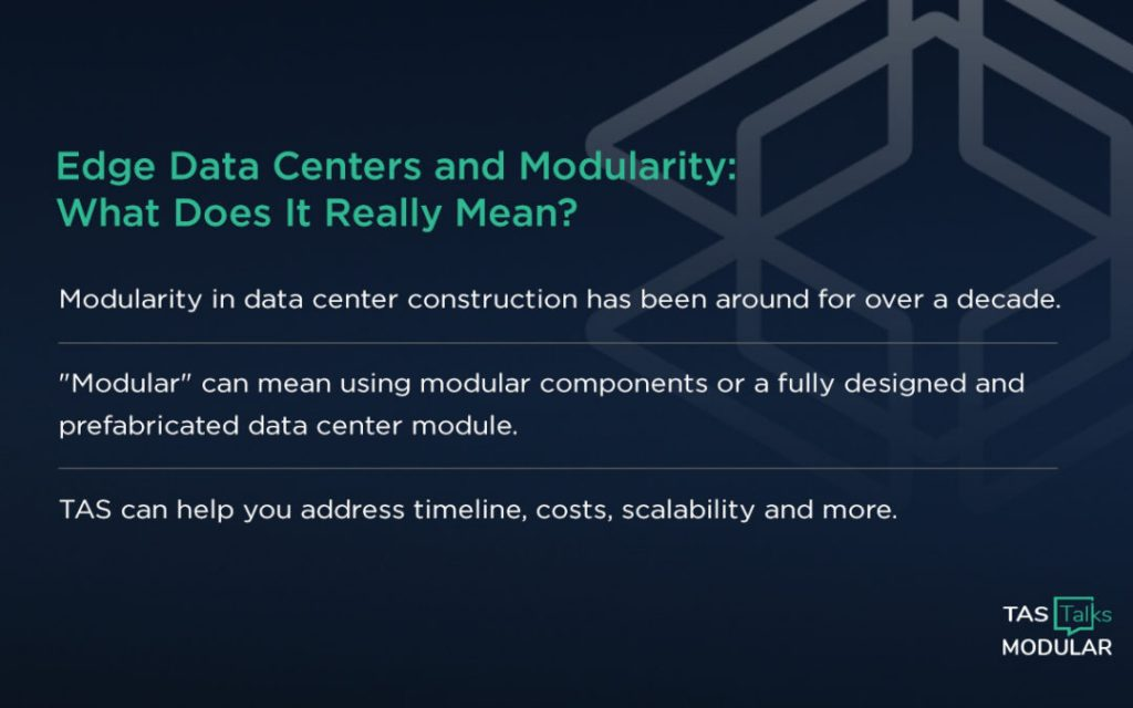 How to Create Modularity in Data Centers