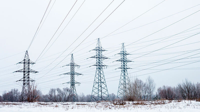 Power Lines in the Snow