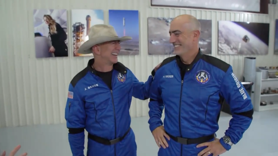 Jeff Bezos' First Interview After Returning from Space